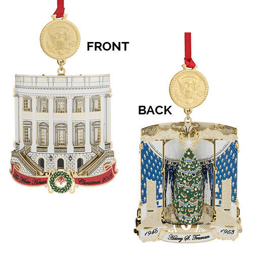 front and back Harry Truman White House Ornament