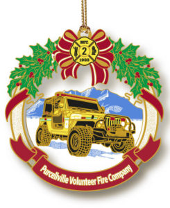 PVFC first 2014 yellow jeep ornament