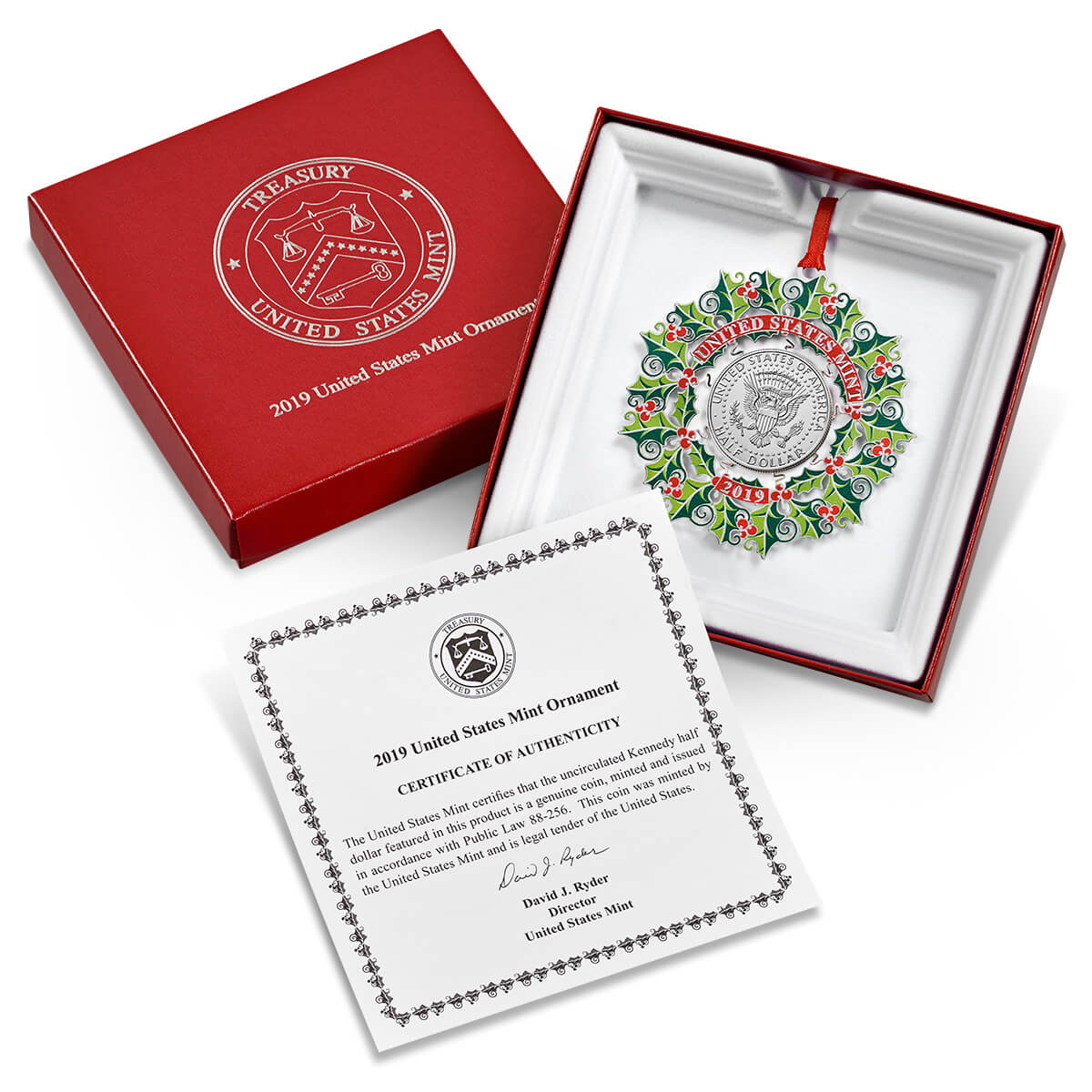 United States Mint Ornament Packaging