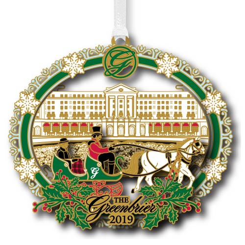 The Greenbrier Hotel 2019 Christmas Ornament