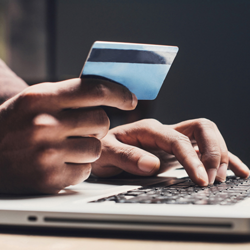 Shopping online with card