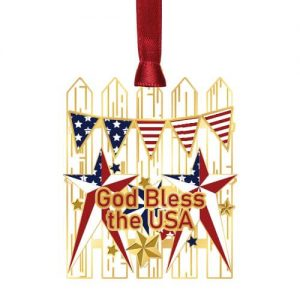 picket fence with god bless the usa