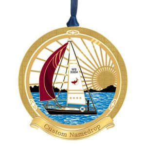 sailboat in the water ornament