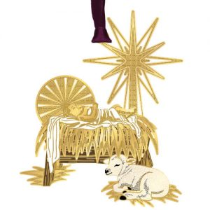 Christmas manger ornament