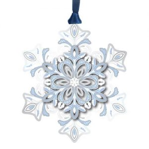 Silver and Blue Snowflake Ornament