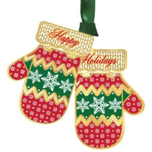 christmas mittens ornament