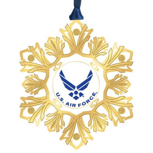 gold US Air Force snowflake ornament