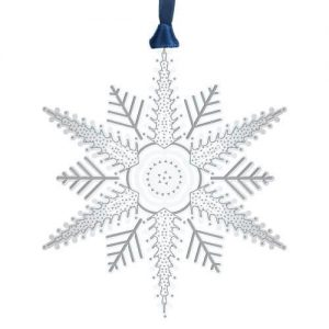 Silver Etched Snowflake Ornament