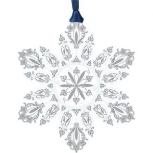Intricate Silver Cut Out Snowflake Christmas Ornament