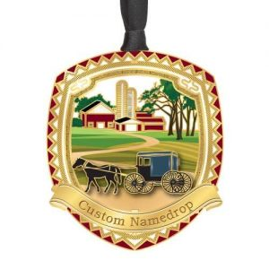 Custom Horse and Buggy Ornament