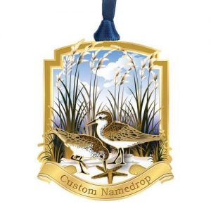 Custom Sandpipers on the Beach with a Starfish Ornament