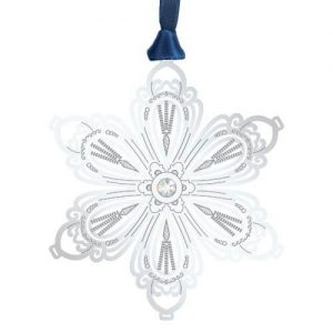 blooming silver snowflake ornament