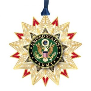 gold US Army star ornament