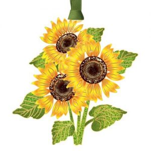 yellow sunflowers ornament