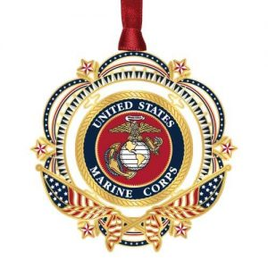US Marines with flag ornament