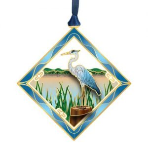 heron bird ornament