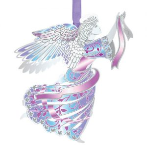 colorful holiday angel ornament