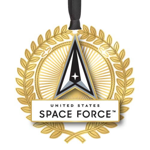 gold US Space Force ornament