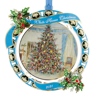 Annual white house ornament