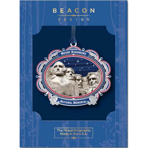 MT RUSHMORE ORNAMENT IN BLUE RETAIL BOX