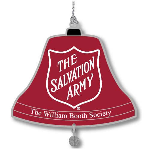 red salvation army ornament